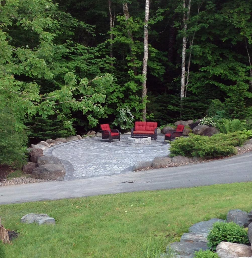 Outdoor Fireplace landscaping patio in Halifax, NS: After