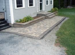 Patio Pavers and landscaping in Halifax, NS: After
