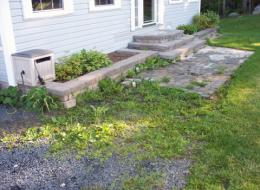 Patio Pavers and landscaping in Halifax, NS: Before